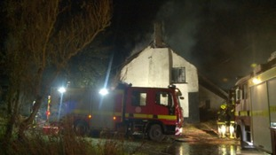 The fire was at a cottage in Bondleigh near Winkleigh.