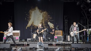 Wolf Alice perform live on stage on day 3 of Bestival 2016
