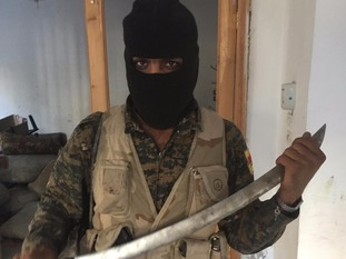 Kurdish YPG fighters believe the end is now just days away.