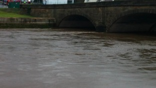 River Ribble with high water levels