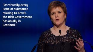 Nicola Sturgeon speaks to Irish business leaders.