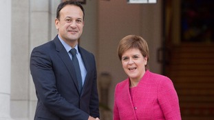 Nicola Sturgeon and Leo Varadkar