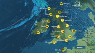 Friday weather map.