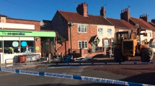 A JCB digger has ramraided a Co-op store in Bishopthorpe, York and stolen the cashpoint machine.