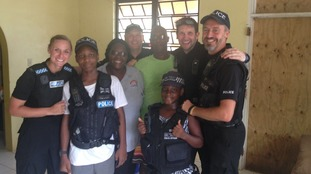 Police Officers return from hurricane hit British Virgin islands
