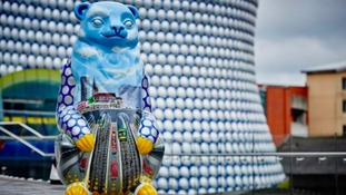 100 bear sculptures were installed around Birmingham.