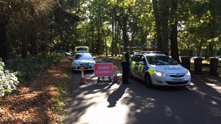 Road blocks are still in force near Roughton woods