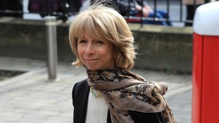 Helen Worth arrives to pay her respects.