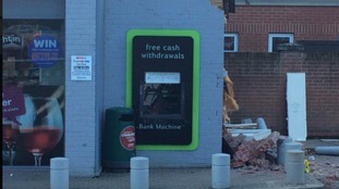 A gaping hole remains where the cash machine used to be.