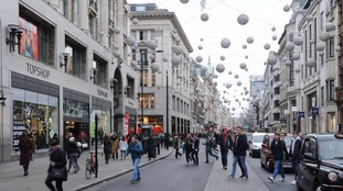 Festive lights arrive on Oxford Street 84 days before Christmas - and Twitter is unimpressed