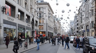 Oxford Street is famed for its annual Christmas display.