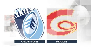 FT: Cardiff Blues 43 - 29 Dragons