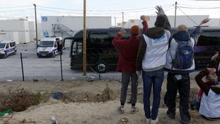 Unaccompanied migrant minors from the demolished