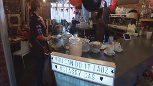 Castleford Tigers fans enjoy a hearty breakfast before journey across pennines