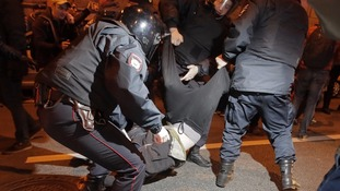 Anti-Putin protests erupt across Russia on his birthday