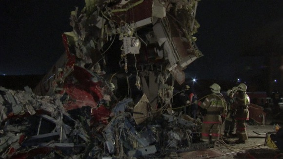 The remains of the plane in Moscow have been removed from the crash site
