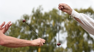 Bonkers for conkers as world champs prove a hit