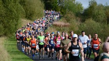 Runners taking on the Kielder Marathon