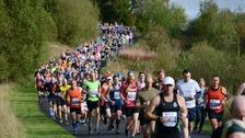 Runners taking on the Kielder Marathon