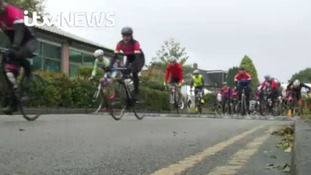 Cyclists raise money for cystic fibrosis equipment