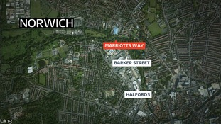 The attempted kidnap took place on a footpath near Barker Street