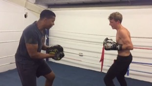 Jesse Johnson training with Darren Allen-Jones
