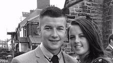 Liam Hibbins and fiancee Beth Storey