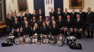 Annan Pipe Band champions celebrated at Civic Reception
