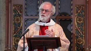 Rowan Williams delivering Christmas Day sermon