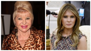 Ivana Trump (left) and Melania Trump