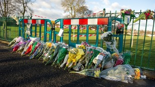 Flowers were left at the spot where in Sheffield where Alan Greaves was attacked