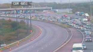 There are heavy delays on the M4 eastbound