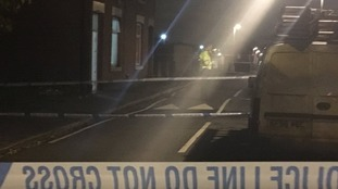 A cordon was in place while police carried out a search of the area.