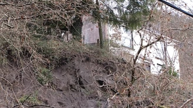 Landslide in Ystalyfera