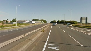 The incident happened on the A1 in Colsterworth
