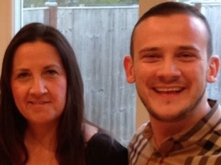 Tracey Hanson with her late son Josh.