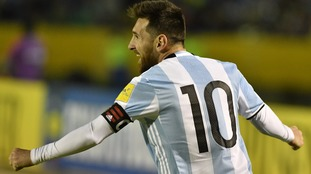 Lionel Messi scores a hat-trick in victory over Ecuador to seal Argentina's place in next year's World Cup