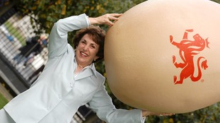Edwina Currie, seen promoting egg safety advice in 2004, sparked outrage in the salmonella crisis of the late 1980s.