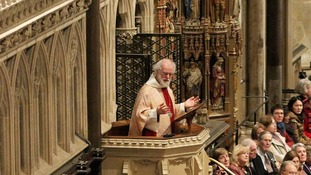 The Archbishop of Canterbury Dr. Rowan Williams delivers his final sermon in Canterbury Cathedral.