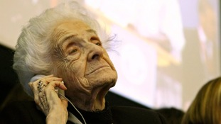 Italian Nobel Prize-winning scientist Montalcini pictured in 2009
