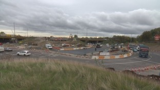 Work is underway on a triple-decker roundabout at the Silverlink Junction