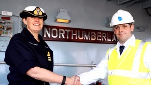 Plymouth-based battleship welcomes new captain