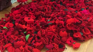 Thousands of poppies knitted in Mansfield