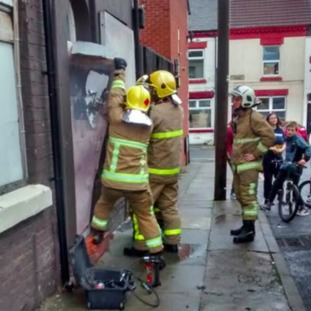 Fire service quickly moved in to save her