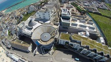 Aerial view of the Tate St Ives gallery.
