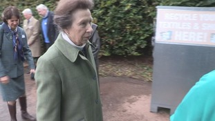 Princess Anne visits Borders riding school