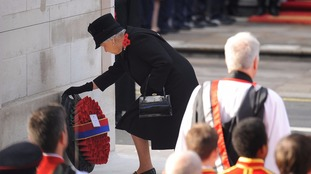 Queen hands over Remembrance Sunday duties to Prince Charles