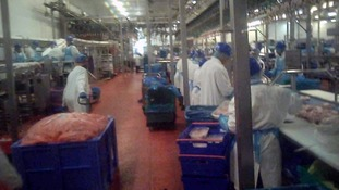 Inside the factory.