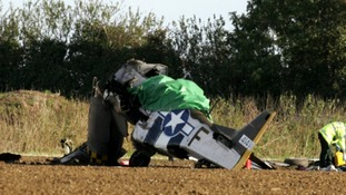 The passenger was killed, and pilot badly injured.