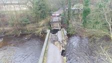 Copley Bridge collapsed in 2015